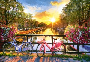 Castorland: Picturesque Amsterdam with Bicycles (1000) legpuzzel