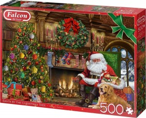 Falcon: Santa by the Christmas Tree (500) kerstpuzzel