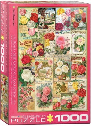 Eurographics: Roses Seed Catalogue Collection (1000) verticale puzzel