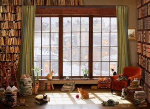 Anatolian: Window Cats (1000) kattenpuzzel