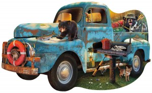 SunsOut: The Blue Truck (1000) shaped puzzel