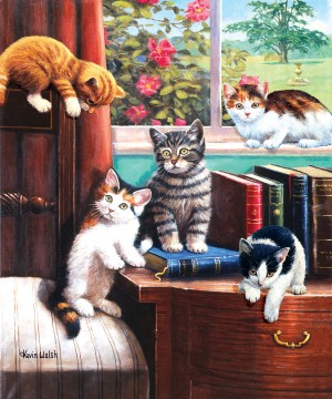 SunsOut: Playtime in the Study - Kevin Walsh (1000) kattenpuzzel