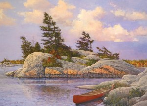 Cobble Hill: Canadian Artist Series - Red Canoe (1000) legpuzzel