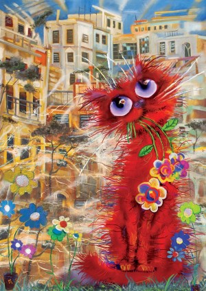Art Puzzle: The Red Cat (260XL) kattenpuzzel