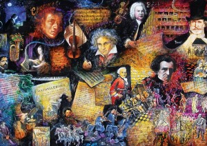 Art Puzzle: The Doyens of Music (260XL) legpuzzel
