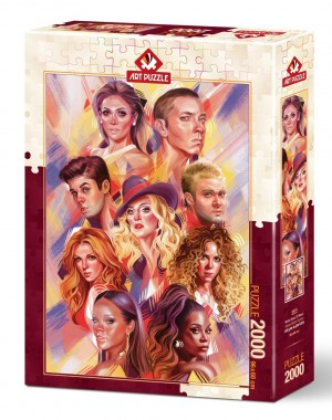Art Puzzle: World Stars of Music (2000) verticale puzzel