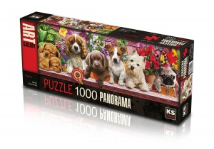 KS Games: Puppies - Adrian Chesterman (1000) panoramapuzzel