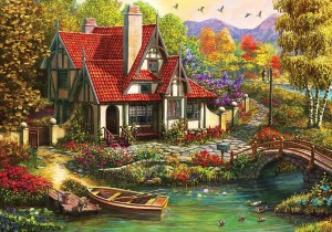 KS Games: Riverside Cottage - Philip Trully (1000) puzzel