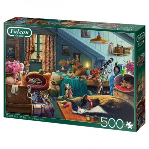 Falcon Cats in the Attic legpuzzel 500 stukjes