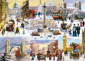 Falcon A Winter in London 1000 stukjes winterpuzzel